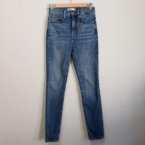 "Madewell 11"" high rise skinny jeans nwot 25"